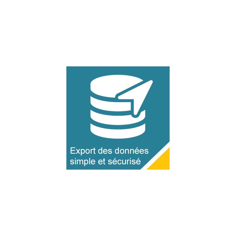 Export des données simple et sécurisé