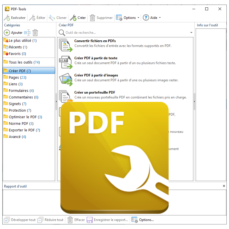 Ensemble d'outils pour la modification et la création de fichiers PDF